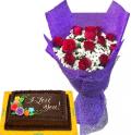 buy goldilocks cakes with flowers in manila city
