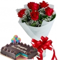 online red ribbon cakes with flowers in manila