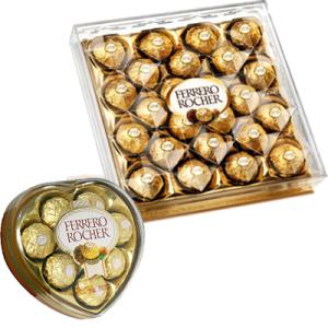 Heart Shape W/ 24 pcs Ferrero Chocolate Box